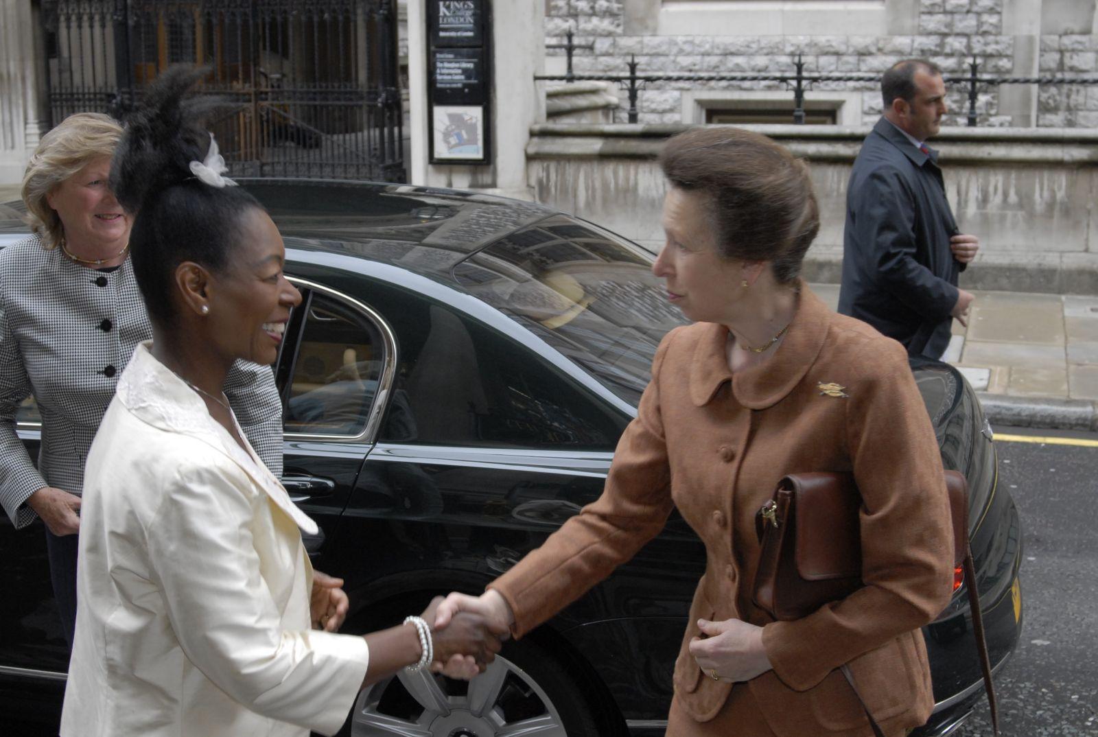 H.R. H The Princess Royal and Baroness LR Floella Benjamin